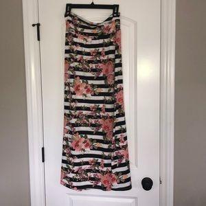 Floral & Striped Skirt • Joe B